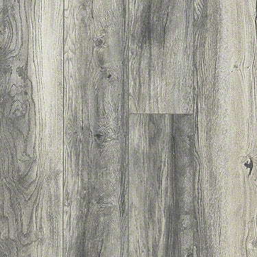 Product sample of Shaw Floors Ellenburg Style laminate flooring in the color Whispering Gray available at Standard Paint and Flooring.