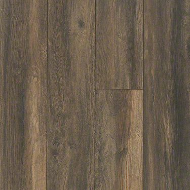 Product sample of Shaw Floors Ellenburg Style laminate flooring in the color Hillside Taupe available at Standard Paint and Flooring.