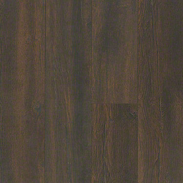 Product sample of Shaw Floors Ellenburg Style laminate flooring in the color Dark Bronze available at Standard Paint and Flooring.