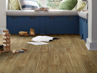 Room Image of Shaw Floors Chisholm Resilient Residential Roll flooring in the color Nebraska available at Standard Paint and Flooring.