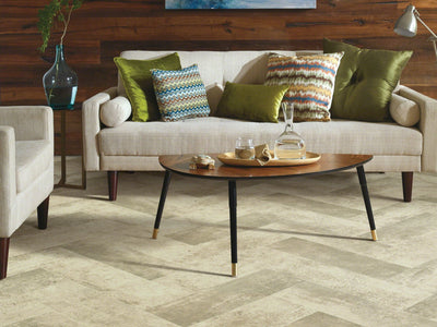 Room Image of Shaw Floors Ares Resilient Residential Roll flooring in the color Delos available at Standard Paint and Flooring.
