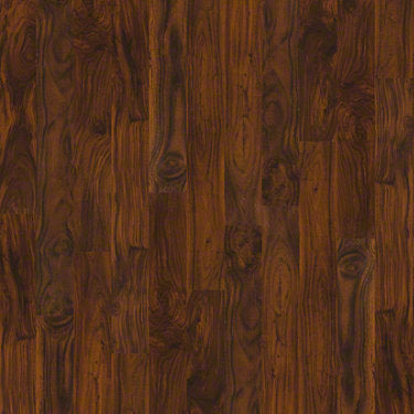 Product sample of Shaw Floors Avenues Style laminate flooring in the color Rich Acacia available at Standard Paint and Flooring.