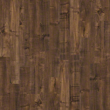 Product sample of Shaw Floors Boulevard Style laminate flooring in the color Mocha available at Standard Paint and Flooring.