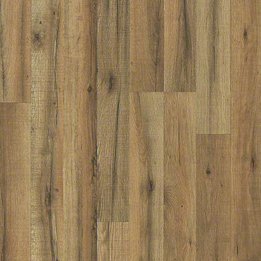 Product sample of Shaw Floors Classic Concepts Style laminate flooring in the color Orchard Oak available at Standard Paint and Flooring.