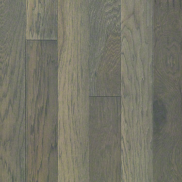 Product Sample of Shaw Floors Sequoia Hickory 5 Hardwood  flooring in the color Greystone available at Standard Paint and Flooring.