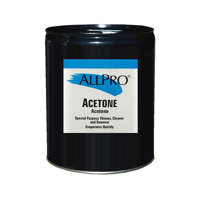 5 Gallons of ALLPRO Acetone, available at Standard Paint & Flooring.