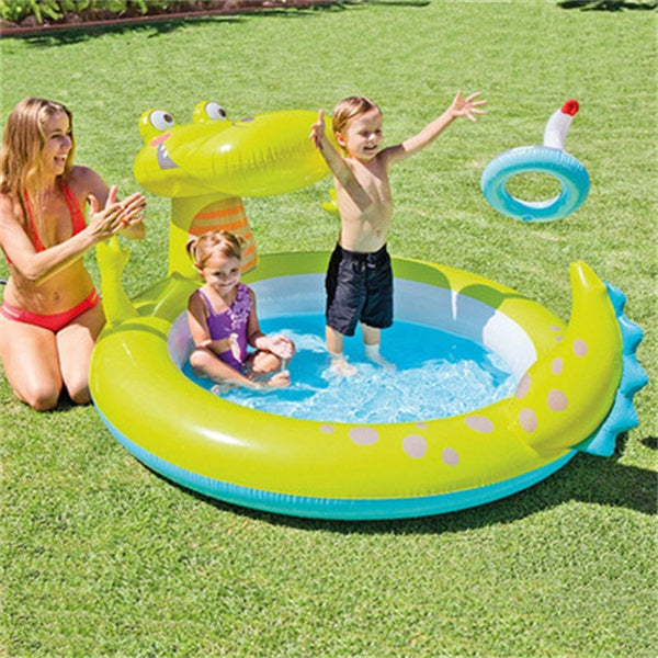 Crocodile Fountain Children's Inflatable Pool