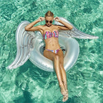 Angel Wings Swimming Ring Inflatable Pool Float Tube Raft
