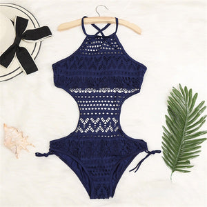 Lace Bather Monokini Push Up One Piece Swimsuit Swimwear