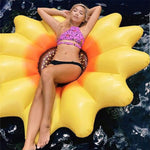 Heart-shaped smiley face sun flower sunflower inflatable swimming ring