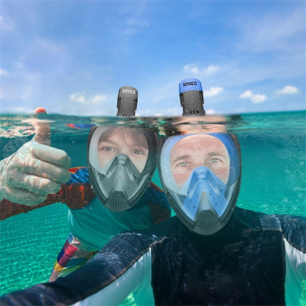 Scuba Full Face 180 Degree View Snorkel Mask Snorkeling For Kids Adults