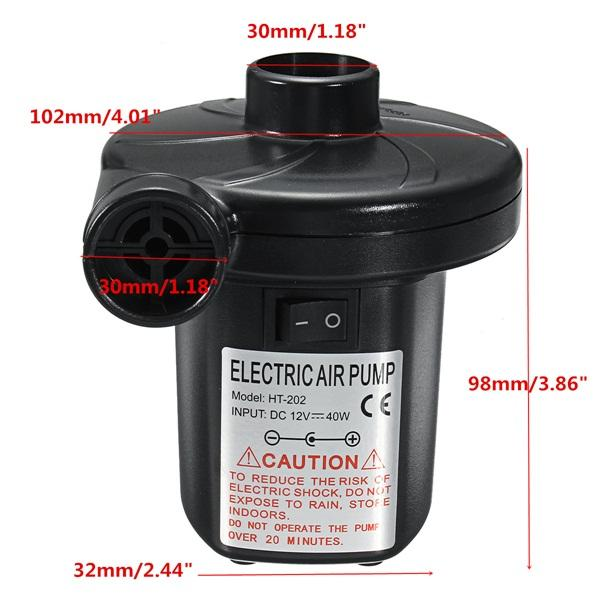 Portable Manual/110V Electric Air Pump Inflator Deflator