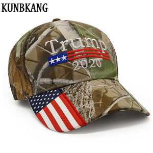 92116ce8d3a New Donald Trump 2020 Camouflage USA Flag Hat