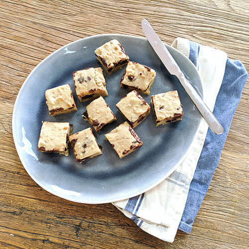 RECIPE: Banana Peanut Choc Chip Slice
