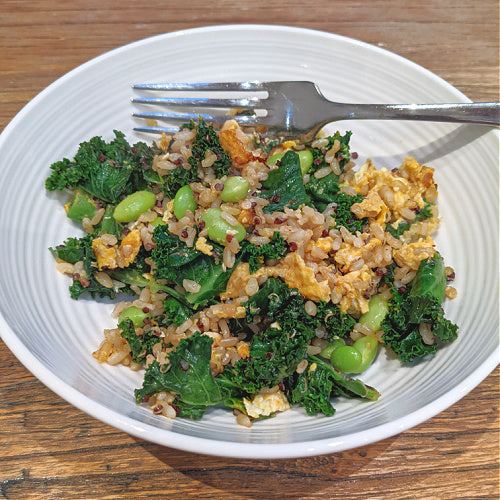 RECIPE: Turmeric Kale Rice