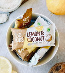 fodbods lemon coconut fodmap friendly protein bar vegan gluten free natural