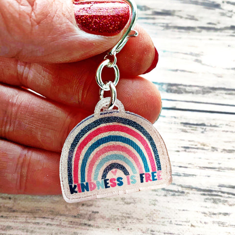 Acrylic Planner Charm - Kindness is free
