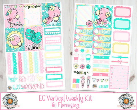 EC Be Flamazing Planner Sticker Weekly Kit