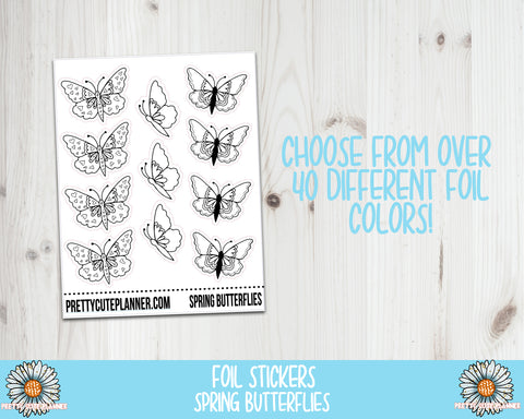 Foil Stickers - Spring Butterflies