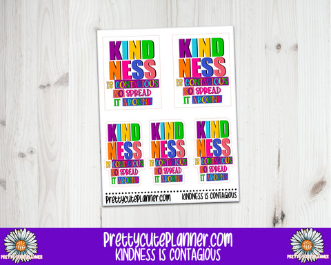Kindness is contagious Planner Stickers