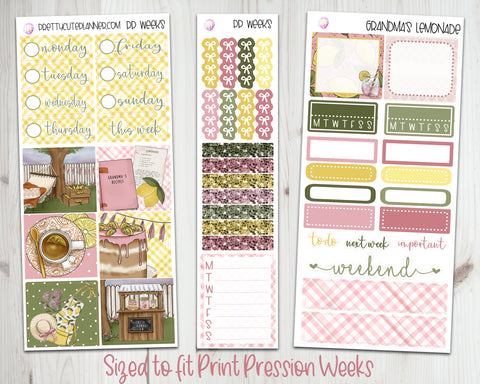 PP035 PP Weeks Grandma's Lemonade Planner Stickers
