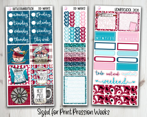 PP Weeks HomeSchool 2020 Planner Stickers
