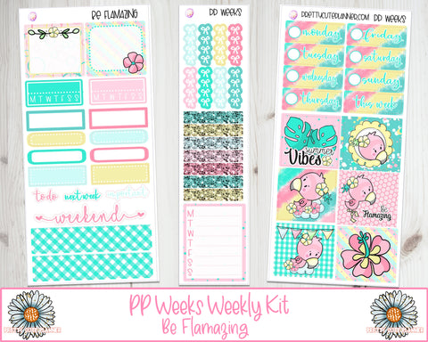 PP Weeks Be Flamazing Planner Stickers