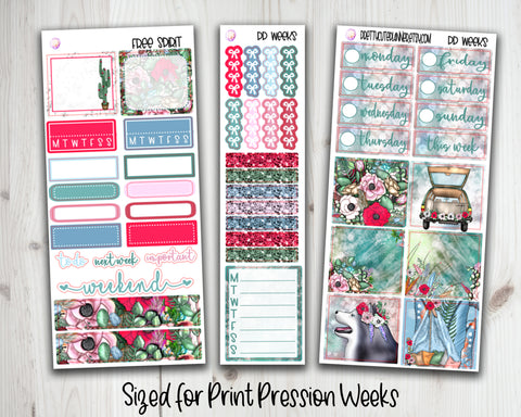 PP Weeks Free Spirit Planner Stickers