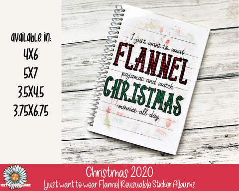 I just want to wear flannel Reusable Sticker Album