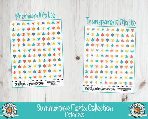 Summertime Fiesta Functional Asterisk Stickers