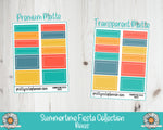 Summertime Fiesta Functional Rectangle Box Stickers