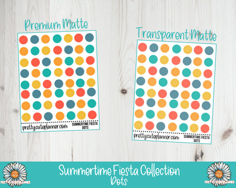 Summertime Fiesta Functional Circle Dot Stickers