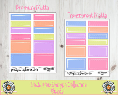 Soda Pop Shoppe Functional Rectangle Box Stickers