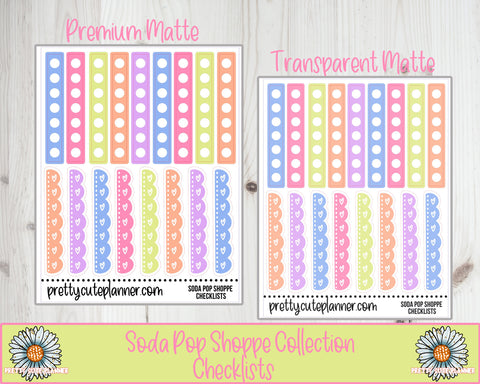 Soda Pop Shoppe Functional Checklist Stickers