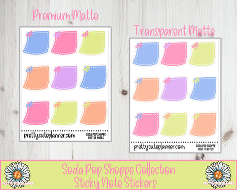 Soda Pop Shoppe Functional Sticky Note Stickers