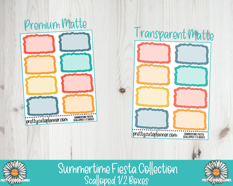 Summertime Fiesta Functional Scallop Half Box Stickers