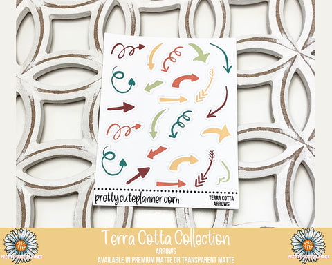 Terra Cotta Functional collection Arrow Stickers