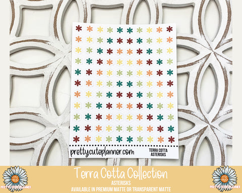 Terra Cotta Functional Stickers - Asterisks