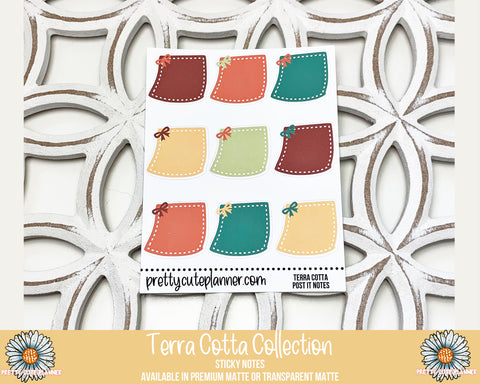 Terra Cotta Functional Stickers - Sticky Notes