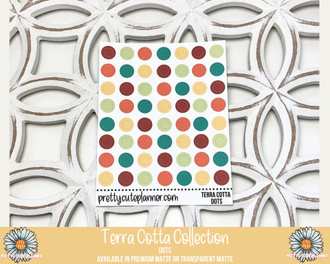Terra Cotta Functional Stickers - Circle/Dots