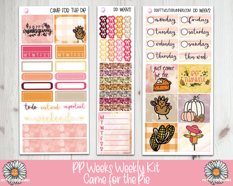PP Weeks Came for the Pie Weekly Planner sticker kit