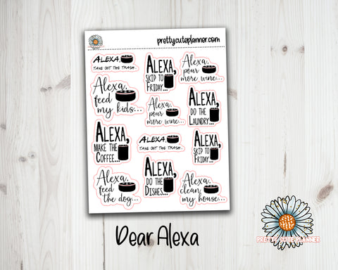 Dear Alexa Quote Stickers