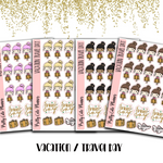 Doodle Girl Vacation Planner Stickers