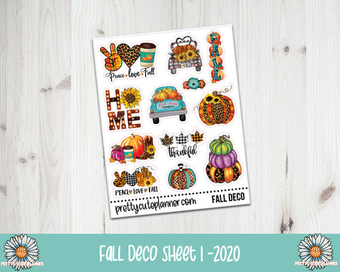 2020 Fall Deco planner stickers 1