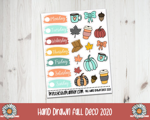 Hand Drawn Fall Deco Stickers