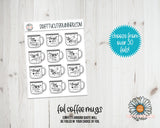Foil Motivational Coffee Mug stickers