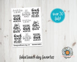 Foil Stickers - Summer Beach Days