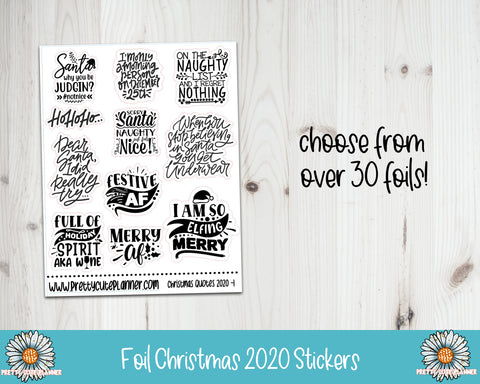Foil Stickers - Christmas 2020
