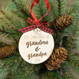 Personalized Grandparents Ornament - Grandparents First Christmas