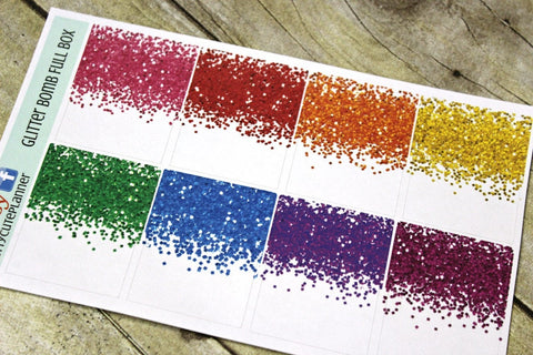 Glitter Bomb Full Box Planner Stickers
